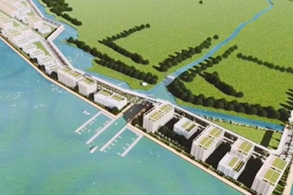 A perspective of the 174-hectare reclamation project in Dumaguete City / Business World