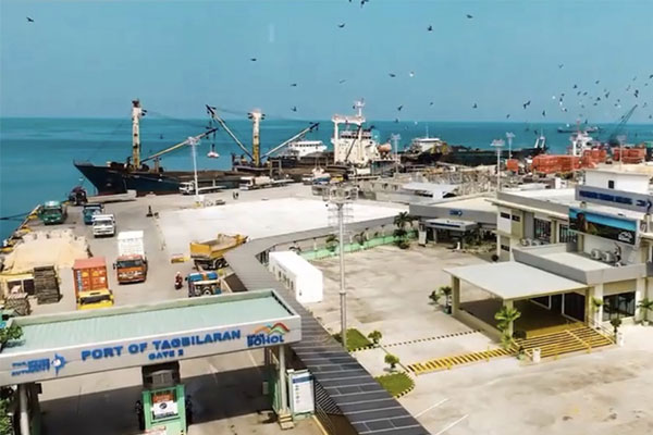 Photo shows an aerial view of the Passenger Terminal Building (PTB) of the Port of Tagbilaran that is set to be inaugurated on Wednesday (April 14, 2021). / PNA