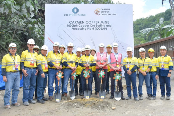 CD Processing (Philippines) Inc. groundbreaking of its facility in Cebu. The company will be providing ore sortation solution to Carmen Copper Corp. (Photo from CD Processing Ltd. website)